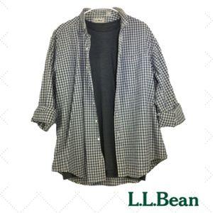 L.L. Bean Long Sleeve Shirt Plaid Size Large